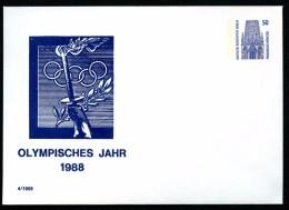 BERLIN PU136 C1/001 Privat-Umschlag OLYMPISCHES JAHR  ** 1988 NGK 5,00 € - Berlin (West)