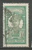 MARTINIQUE N° 93 OBL TB - Martinique (1886-1947)