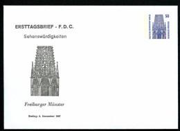 BERLIN PU136 D2/003a Privat-Umschlag FREIBURGER MÜNSTER ** 1987  NGK 5,00 € - Berlin (West)