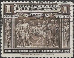 URUGUAY 1930 Independence Centenary - 1c Gaucho Horse Breaker FU - Uruguay