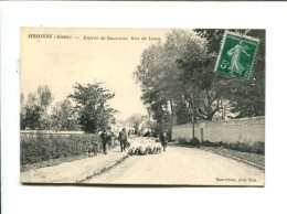CP   SISSONNE   (02)  ENTREE DE SISSONNE RUE DE LAON - Sissonne