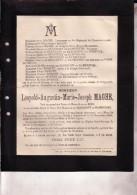 MONS NEUFVILLES Léopold-Augustin MAGHE Veuf Du BOIS Et Veuf De SEJOURNET De RAMEIGNIES 1825-1900 Faire-part Décès - Obituary Notices
