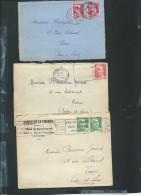 Lot De 10 Lettres Affranchies Avec Type Gandon ( Certaines Avec Leur Correspondance ) Phi211