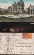 7867) MONTEVIDEO PLAZA INDEPENDENCIA NON VIAGGIATA 1924 FRANCOBOLLI SVIZZERA - Uruguay