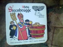 Sous Bock Biere Belge D Abbaye AABAY STEENBRUGGE Double - Beer Mats