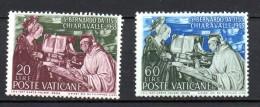 1953 Vaticano S. Bernardo N. 171 -72 Integri MNH** - Vaticaanstad