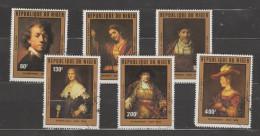 Niger ~ 1981 Rembrandt - Aérien   N° 289 à 294 Oblitéré  Série Compléte - Niger (1960-...)