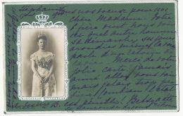 Nice Embossed Card OPM Queen Of Holland  Edit W. De Haan Utrecht  P. Used 1901 - Unclassified