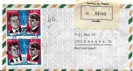 28436 - Enveloppe Recommandée Paraguay Avec Deux Timbres JF Kennedy 1969