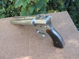 Rare Pistolet Lance-fusée Double.  Allemand ,cal 4.