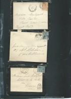 Lot De 10 Documents ( Lettres , Cartes Postale ) Oblitération à Etudier Toutes Epoques Confondues - Tab126 - Marcofilie (Brieven)