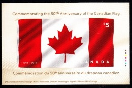 Canada MNH Scott #2808 $5 Flag Of Canada Souvenir Sheet (fabric) - 50th Anniversary - 1952-.... Règne D'Elizabeth II
