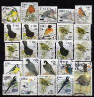 IRLAND Ab 1997 - Lot 24 Verschiedene Vogelausgaben  Used - 1949-... Republik Irland