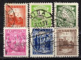 LETTLAND 1934 - MiNr: 232-237 Komplett  Used - Lettland