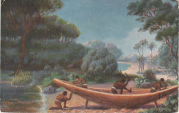 Künstlerkarte CPA - AK Égypte Ägypten Scheepsbouw Bij De Egyptenaren V. Chr. Construction Navale Schiffsbau Shipbuilding - Egypte