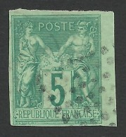 French Colonies, 5 C. 1877, Sc # 31, Mi # 27, Used. - Sage