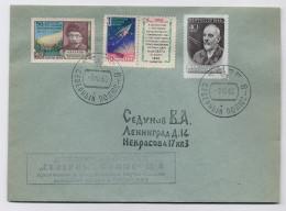 MAIL Post Cover Used USSR RUSSIA Space Rocket Sputnik Tsiolkovsky Meteorite Kulik Comet