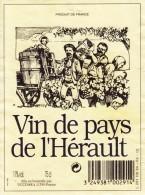 Étiquette   -   Vin Du Pays De L'Hérault - Unclassified