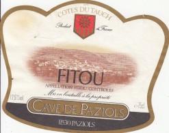 Étiquette   -  FITOU - Cave De Paziols - Unclassified