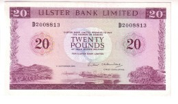 United Kingdom - Northern Ireland - Ulster Bank 20 Pounds (1986) XF RRR! - [ 2] Ireland-Northern