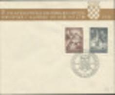 HR 1941-437-8 FILA ZAGREB, YUGOSLAVIA, FDC - Croatia