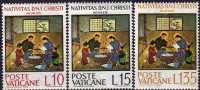 Weihnachten 1964 Gemälde Von Kimiko Vatikan 464/6 ** 1€ Anbetung Der Heiligen Familie Christmas Painting Set Of Vaticane - Vatican
