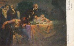 THE GHOST ~ MAN SEES GHOST AT ORGY FINE OLD Postcard - Vertellingen, Fabels & Legenden