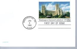 USA   Carte FDC Pap 1993 Cathedrale Washington