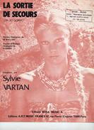 1982 - TRES BELLE PARTITION SYLVIE VARTAN - LA SORTIE DE SECOURS -TBE - - Musique & Instruments