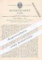 Original Patent - Carl Reichert In Wien , 1885 , Anapoklitisches Prisma Für Polarimeter   Polarimetrie !!! - Historische Dokumente