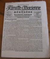 La Famille Alsacienne N°26 Donnerstag Den 20 Mai 1926 16 Pages 24 X 31 Cm  Bilingue BE - Hobbies & Collections