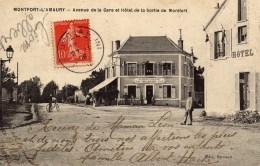 DPT 78 MONTFORT-L'AMAURY Avenue De La Gare Et Hôtel De La Sortie De Montfort - Montfort L'Amaury
