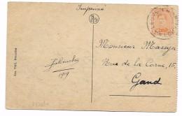 Zichtkaart (Ruines De Louvain) 1 Ct  Noodstempel  LEUVEN/LOUVAIN    (1919) - 1915-1920 Albert I