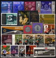 MALTA 1965-1974 - Lot 21 Verschiedene Used - Malta