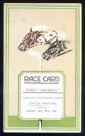 *Race Card. R.M.S. Orcoma. 1926* Díptico. Meds: 109 X 180 Mms. - Programas