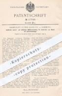 Original Patent - Harburger Gummi Kamm Co. , Hamburg  1899 , Isolierende Wasser- U. Luftdichte Muffenverbindung , Metall - Historische Dokumente