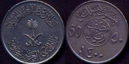 Saudi Arabia 50 Halala VF       AH 1400 /  1979 - 1980 AD - Saudi Arabia