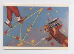 MUSIQUE - HIP HOP - SMURF - Radio Blaster - ORIGINALE ANNÉES 80s - MODE - Début Du RAP - Carte Originale Des Années 80s - Musique Et Musiciens