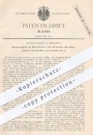 Original Patent - Julius Fahdt , Dresden , 1881 , Maschinen Zum Pressen Von Glas   Gläser , Formen , Glasbläser !!! - Historische Dokumente