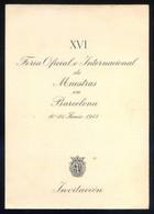 Barcelona *XVI Feria Oficial E Internacional De Muestras. 1948* Díptico. Meds: 120 X 170 Mms. - Programas