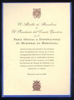 Barcelona *Feria Oficial E Internacional De Muestras. 1950* Impreso. Meds: 115 X 150 Mms. - Programas