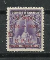 El Salvador.1924_Cincuentenario De La Unión Postal Universal. - El Salvador