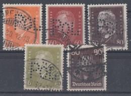 DR Lot Minr.5 Marken Mit POL-Lochung Gestempelt - Briefmarken
