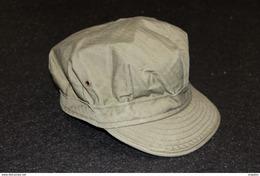 Militaria US WW2 – Casquette HBT 1941/1943 - Coiffure / Uniforme Soldat Américain - Reconstitution Historique - Uniform