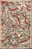 ! Alte Landkarten Ansichtskarte , Map, Wona Verlag, Nr. 829, Mit Görlitz, Seidenberg, Friedland, Lausitz - Mapas