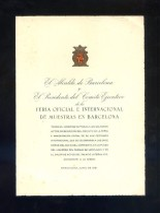 Barcelona *Feria Oficial E Internacional De Muestras. 1951* Impreso. Meds: 120 X 160 Mms. - Programas