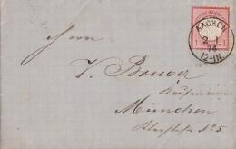 DR Brief EF Minr.19 K1 Aachen 2.1.74 Gel. Nach München - Briefe U. Dokumente