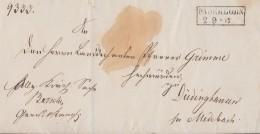 Preussen Brief R2 Paderborn 2.9. Gel. Nach Düdinghausen - Preussen