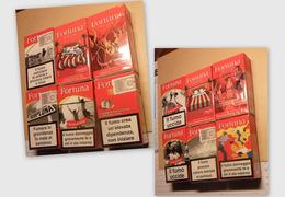 6 PACCHETTI VUOTI DI SIGARETTE FORTUNA - - Contenitori Di Tabacco (vuoti)