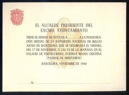 Barcelona *El Alcalde Presidente...1944* Impreso. Meds: 131 X 181 Mms. - Programas